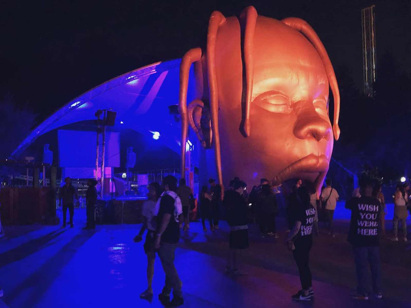 21059b8e87ac Travis Scott turned Six Flags into Astroworld for album release party |  ELEVATOR
