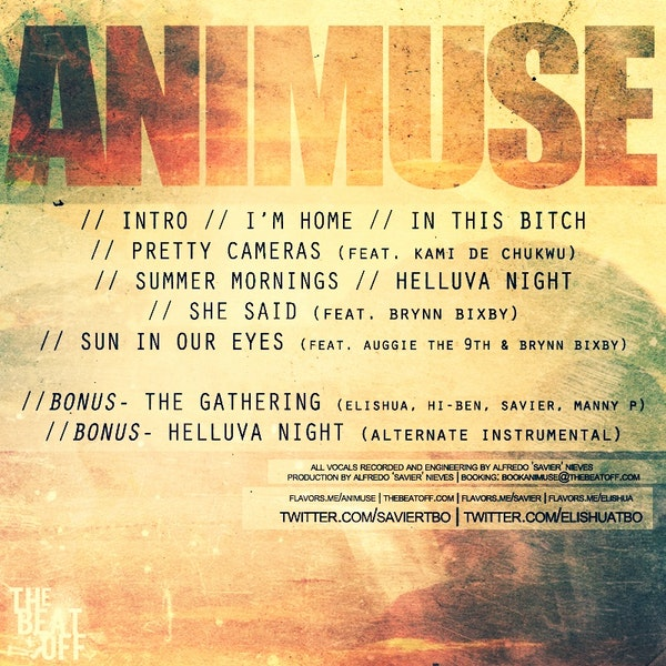 animuse home mixtape back cover