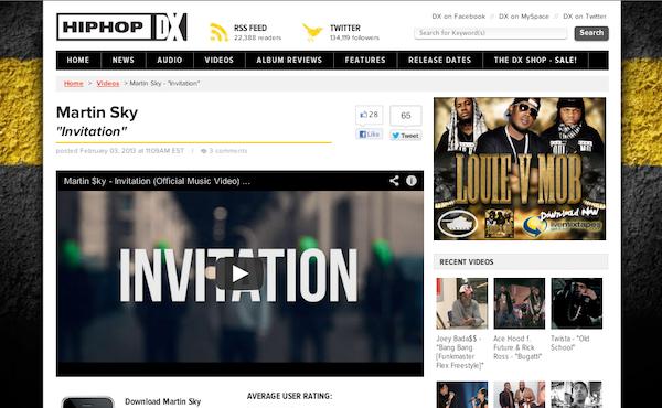 Martin Sky : Hip Hop DX