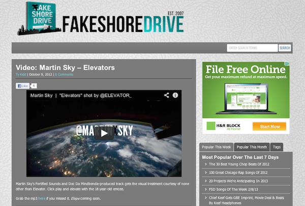Martin Sky : FakeShore Drive