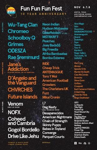 Fun Fun Fun Fest Reveals 2015 Lineup